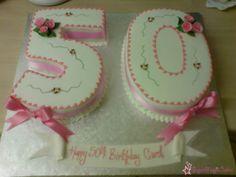 Elegant number 50 cake! eleg number, number 50 cake