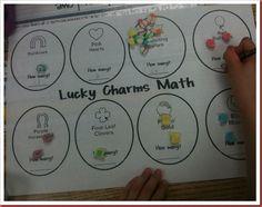 Lucky Charms Math activity