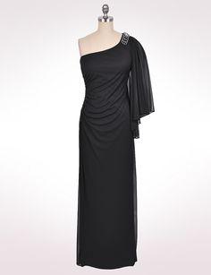 Misses | Dresses | Embellished One-Shoulder Dress | dressbarn