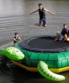 Turtle Jump Water Trampoline // AWESOME!