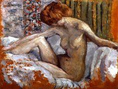 Pierre Bonnard - Marthe nue sur son lit