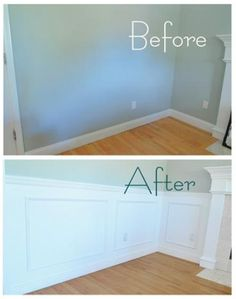 How To Do Your Own Wainscoting. Love this for the babies room!!