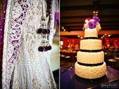 Gorg purple wedding lengha