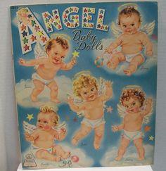 Vintage Angel Baby Dolls  Paper Dolls by  Merrill
