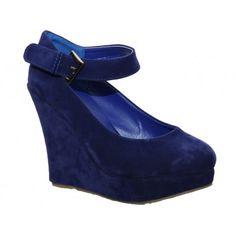 Navy platform shoes by Matar.ro
