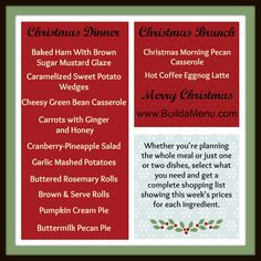 christma ahhh, christma food, christma wonder, christma menu, christma secret, christmas menu