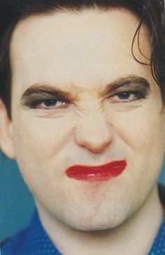 A close up of The Cure's Robert Smith