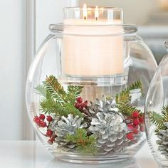 DIY home decor centerpiece. So many ways to decorate! Christmas, holiday, thanksgiving, wedding, birthdays, spring, etc. Clearly Creative™ GloLite Jar Holder by PartyLite® Candles. Shop here : http://www.partylite.biz/legacy/sites/nikkihendrix/productcatalog?page=productdetail&sku=P91532&categoryId=58289&showCrumbs=true