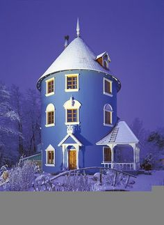 Blue house in Finland