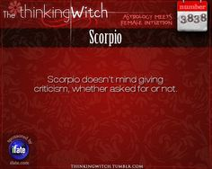 Thinking Witch Scorpio Fact for today