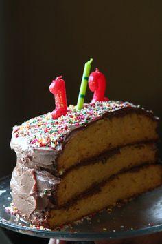 half-birthday cake