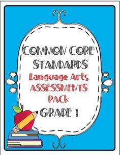 The Lesson Plan Diva: Common Core Language Arts Assessment Pack Grade 1