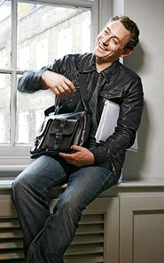 JJ Feild also in leather.  Not sure where this is from.  (Not a gif.)