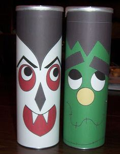halloween pringles cans