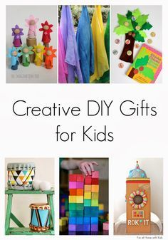 Over 25 Creative DIY Gifts for Kids from Fun at Home with Kids   best stuff