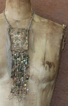 by OriginArtifacts | 'Minoan Nouveau Bead Work Pouch Pendant'