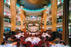Vision of the Seas Dining | dinning room explorer of the seas