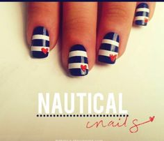 #Nautical #Nails