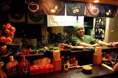 Man behind bar in Toriki, Golden Gai, Shinjuku.