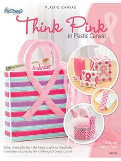 Plastic Canvas Crafts | Think Pink in Plastic Canvas Craft Book Inspirational | eBay