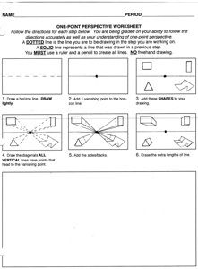 1-point perspective Worksheets and more 2 point