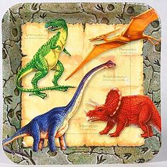 Absolutely Prehistoric| Prehistoric Party| Party Goods: Dinosaur Dinner Plate Pkg/8