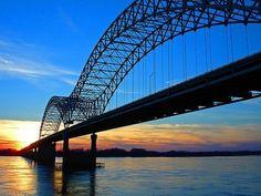 memphis, sunset, the bridge, mississippi river, homes, rivers, bridges, sweet home, eye