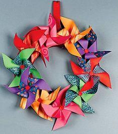 Pinwheel wreath.