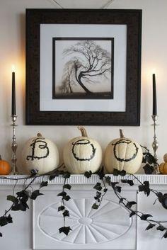 Halloween Pumpkin Decorating Ideas by @Gayle Robertson Roberts Merry Homes and Gardens stylist Karin Lidbeck!