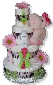 Diaper Cake for Baby Showers! CUTE!