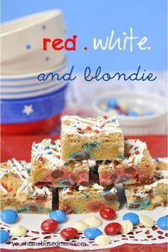 M & M Blondies - Red, White and Blondie