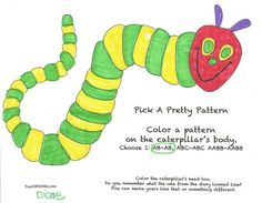 Classroom Freebies: The Hungry Caterpillar Activity Packet
