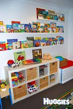 Love love love this bookshelf idea. OMG Would love this in their playroom