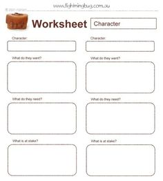 Characterization worksheet 1
