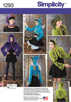 Simplicity Creative Group - Misses' Costume Jackets, Wings and Hat