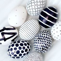 Black and white sharpie eggs