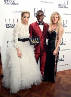 Tinie Tempah, Rita Ora and Ellie Goulding at the ELLE Style Awards 2014
