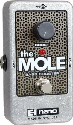 Electro-Harmonix The Mole Nano Bass Boost Guitar Effects Pedal by Electro-Harmonix. $41.43