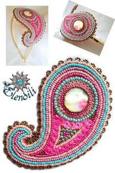 Diadema de embroidery by **Elendili**, via Flickr
