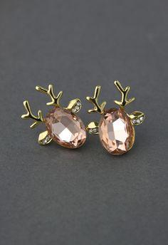 christmas parties, bead earrings, accessori, reindeer earring, antlers, beads, ador, the holiday, christmas earrings