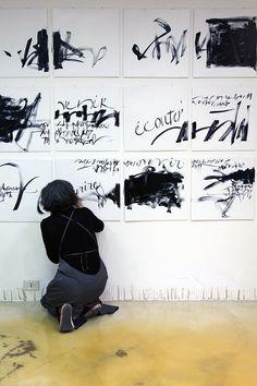 Francesca Biasetton, live calligraphy