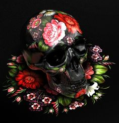 skulls, folk paint, folk art, painting art, russian folk, sasha vinogradova, skull art, paintings, design