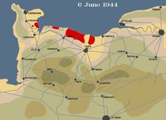 Allied Controlled Territory following the Invasion of Normandy, June 6, 1944 - August 21, 1944 (Animated)