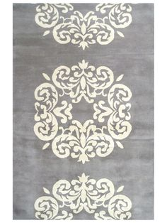 Newport Medallion Hand-Tufted Rug (5'x8')  $349 Gilt