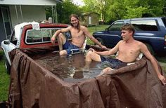 Red neck hot tub!