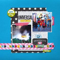 An ounce of creativity ~ Un soupçon de créativité: Universal Studios: regular layout+pocket page = ♥