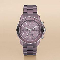 Stella Large Aluminum Watch - Purple