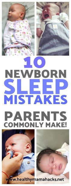 Find out if you are making these common new parent sleep mistakes with your newborn. Is your baby having trouble falling asleep or staying asleep? This may be why! #newborn, #babysleep, #newbornsleep, #newparentsleep, #baby, #sleep, #postpartum