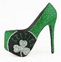 NBA Celtics Limited Edition Crystal Pumps