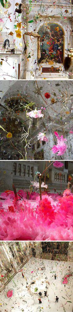 """artwork """"falling garden"""" by Steiner and Lenzlinger in Venice"""